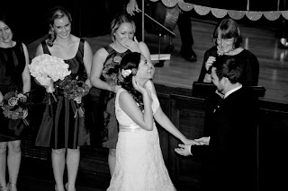 Whitney and Alli's wedding ceremony had moments of light heart