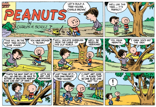 Comic name original peanut strip