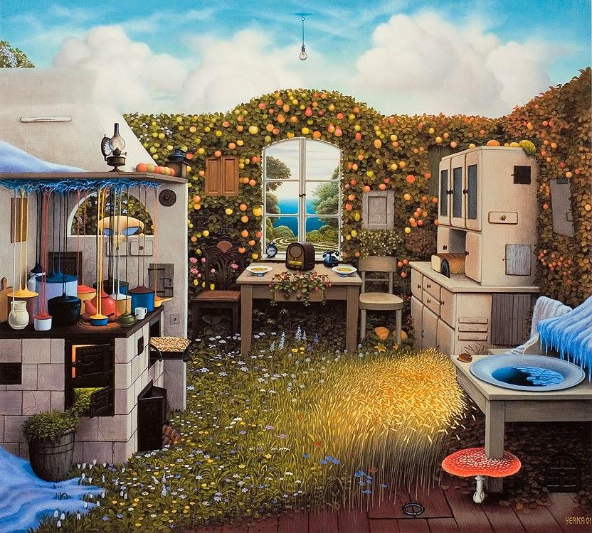 13-Painters-Kitchen-Jacek-Yerka-Surreal-Paintings-Parallel-Universes-www-designstack-co