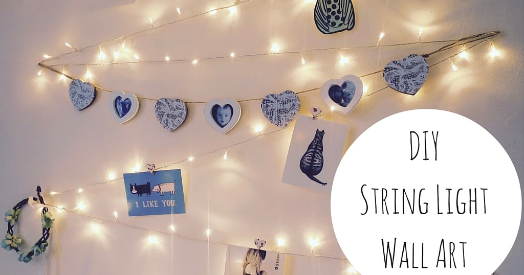 Diy String Light Wall Art Decoration