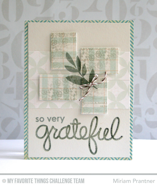 So Very Grateful Card from Miriam Prantner featuring the DC Thankful Thoughts and Modern Blooms stamp sets