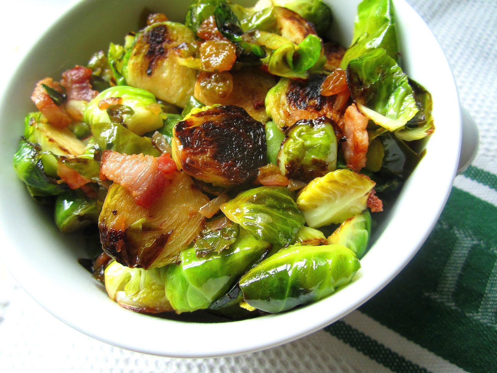 ... Snacks: Turkey Sides: Pan Fried Brussels Sprouts w/ Bacon & Raisins