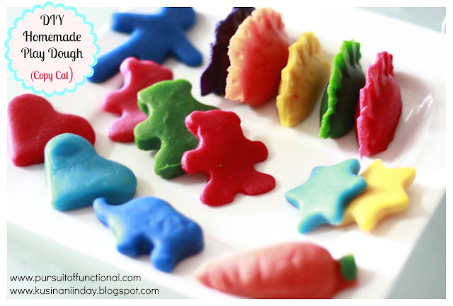 DIY Homemade Play Dough (Copy Cat), Human, dumplings, carrots, stars, hearts, teddy bears and elephant doughs