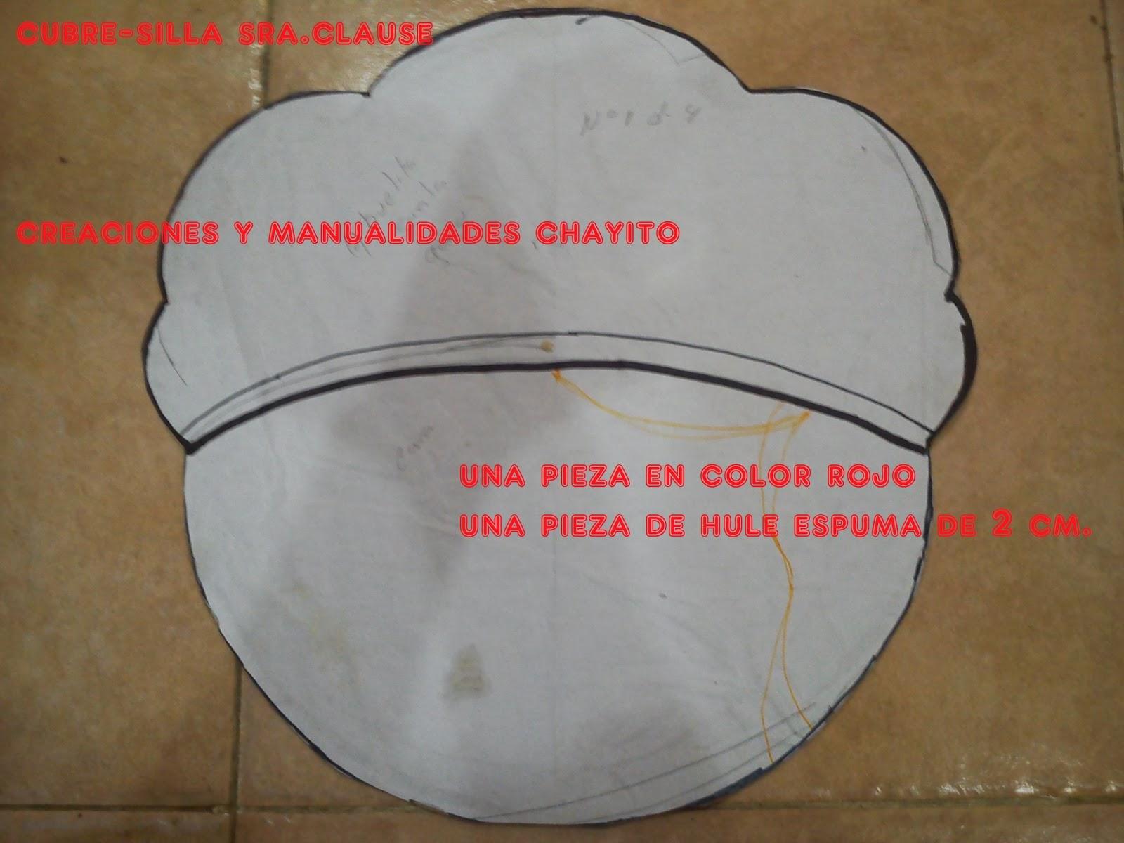 """Cortinas De Baño Rosario:Creaciones y Manualidades """"Chayito"""": CUBRE-SILLAS NAVIDEÑO CON MOLDES"""