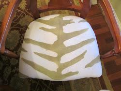 Hand Stenciled Zebra Print Fabric