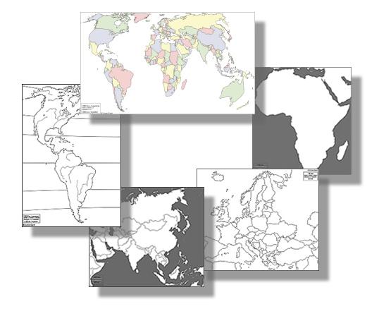 Mapas para mirar e imprimir