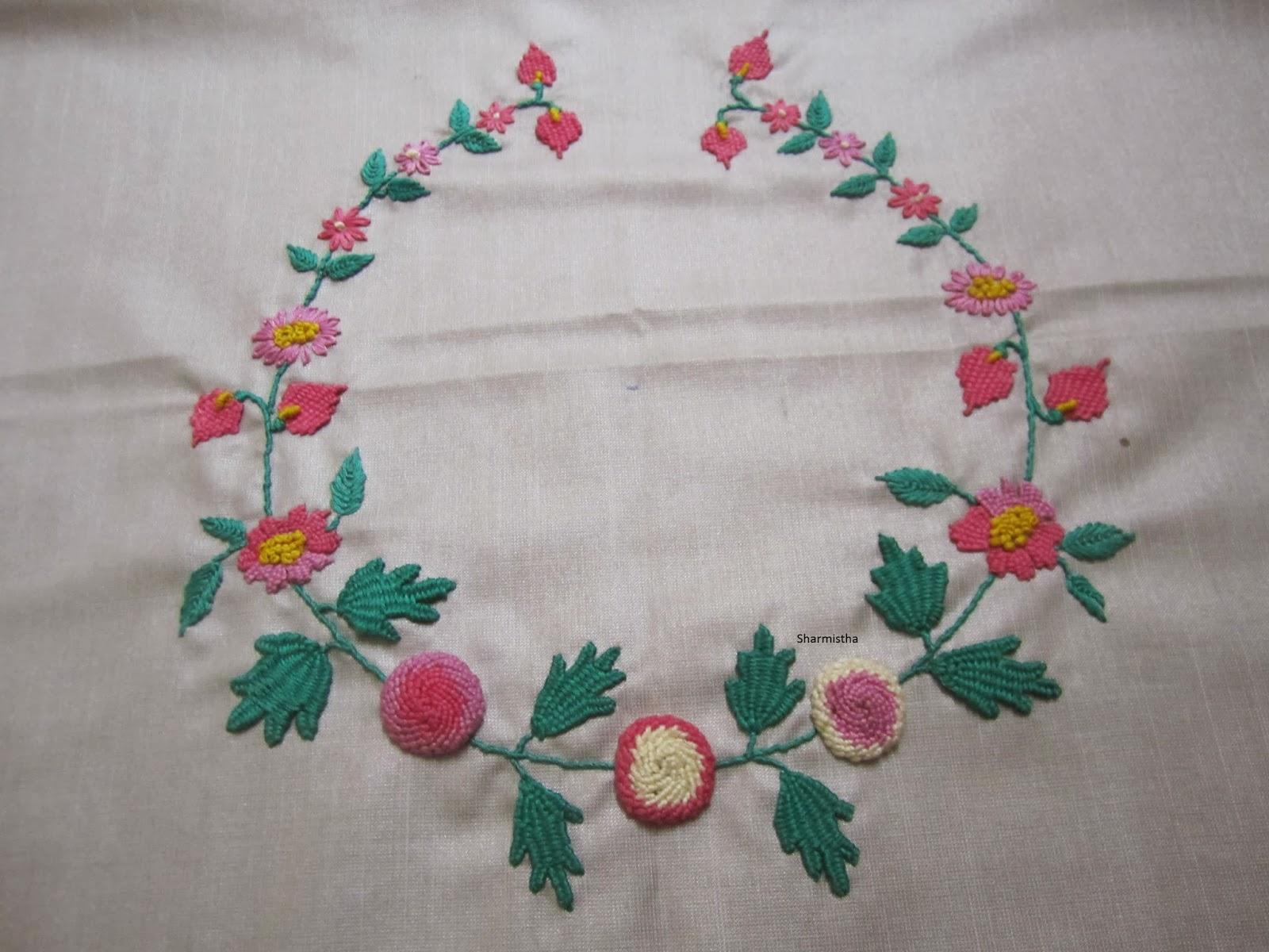 How to make hand embroidery lazy dazy stitch in urduhindi