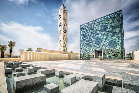 desain masjid kaca modern minimalis