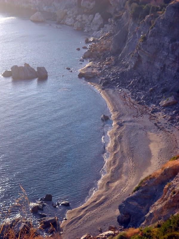 La spiaggia di Plaka