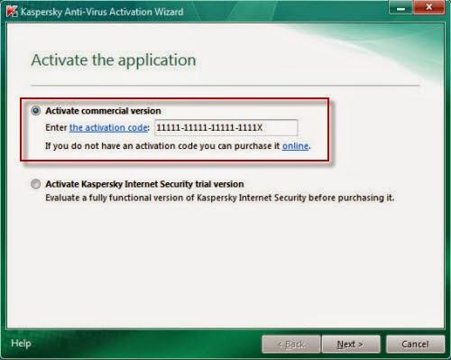 kaspersky antivirus trial activation code