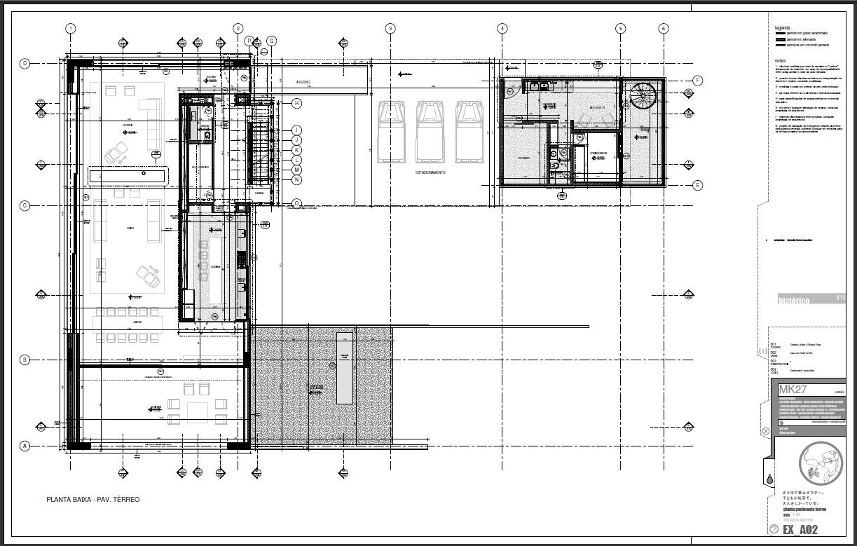 BIM Revit : Case Marcio Kogan Studio MK27 #61676A 1223 779
