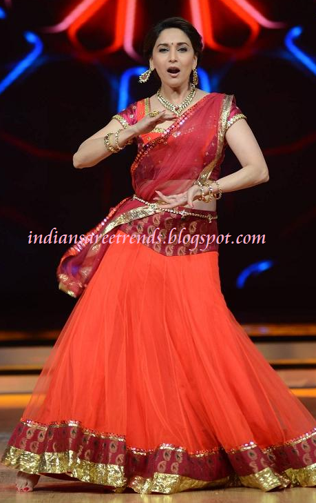 Lehenga in Red Colour Colour Netted Lehenga With