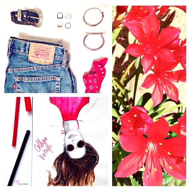 instagram collage fashion illustration style