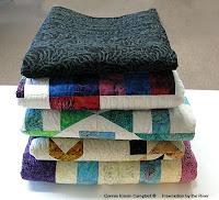 Sneak peek at my batik quilts for Island Batik's booth at Spring Quilt Market