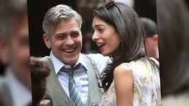 Amal Clooney rend visite à George Clooney sur le plateau de Money Monster