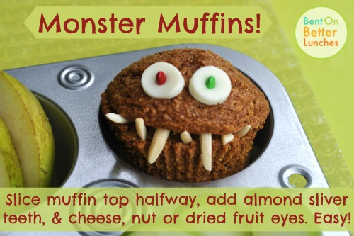 Monster Muffins by BentOnBetterLunches