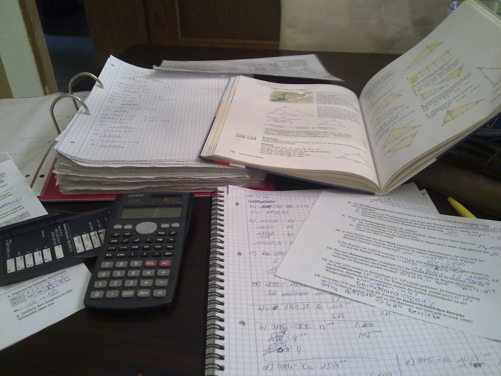 Ich durfte heute schön mathe lernen weil ich morgen meine letzte