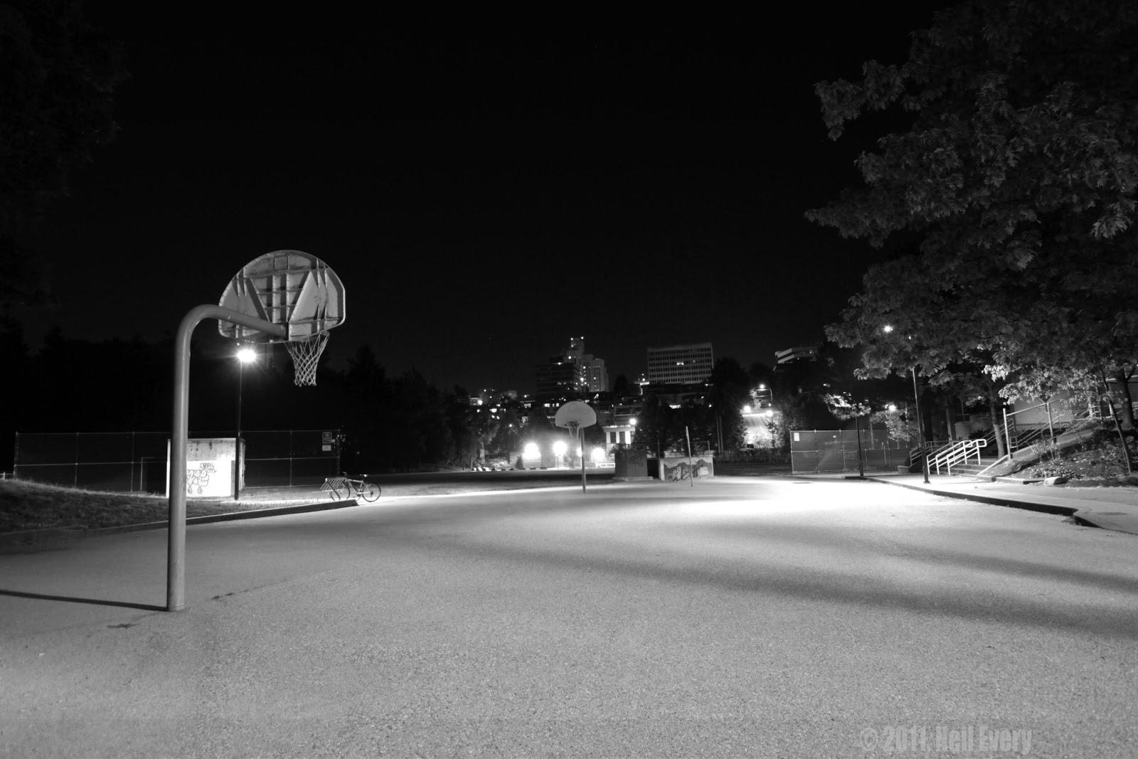 street basketball court at night wwwimgkidcom the