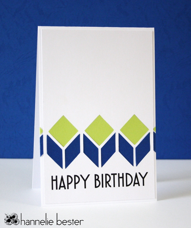 fresh look masculine birthday card