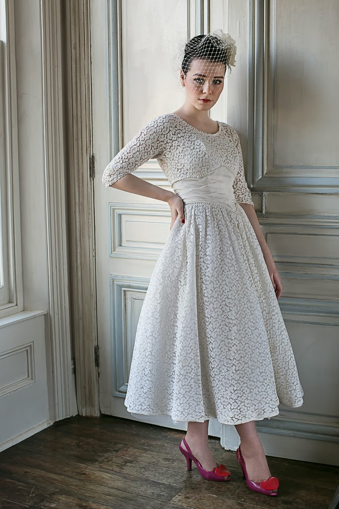 1950s Wedding Dresses C Heavenly Vintage Blog Cotton Lace Dress 950
