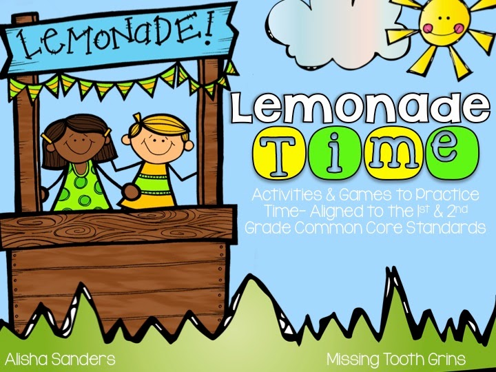 http://www.teacherspayteachers.com/Product/Lemonade-Time-Activities-to-Practice-Time-1223636