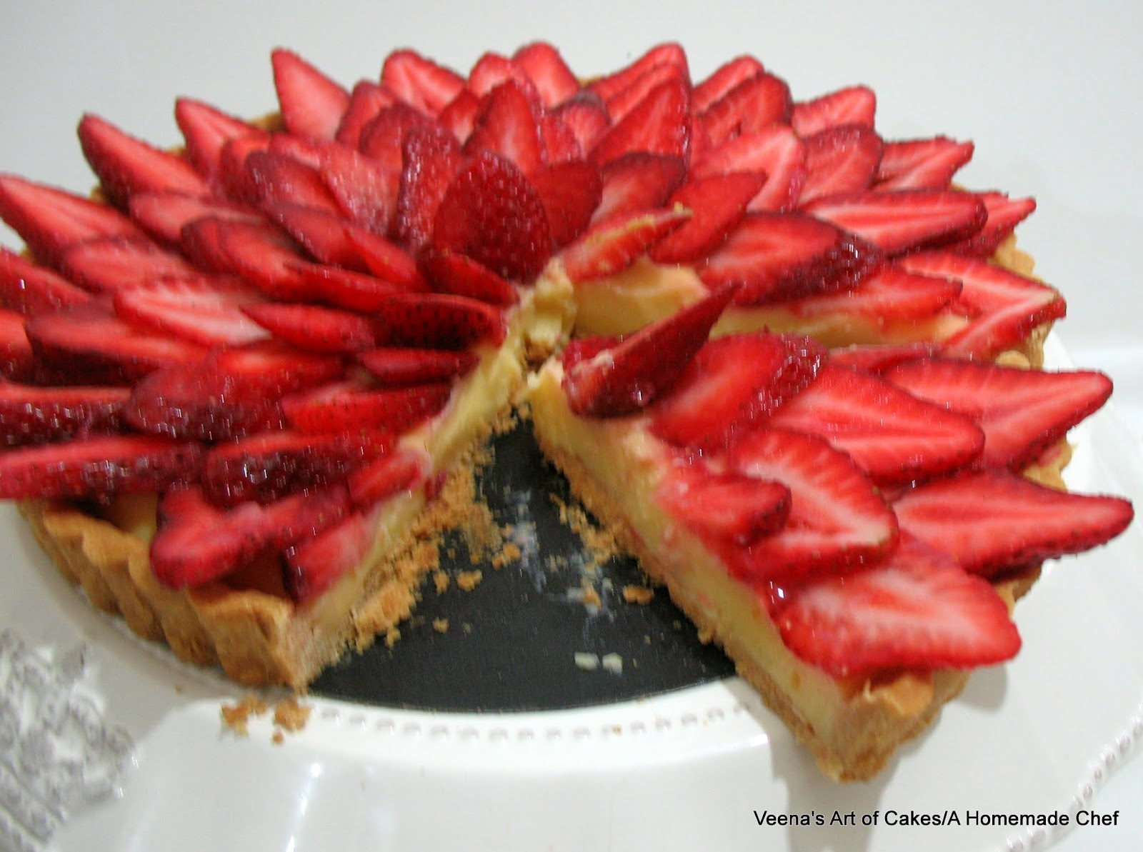 Strawberry Custard Tart - A Homemade Chef