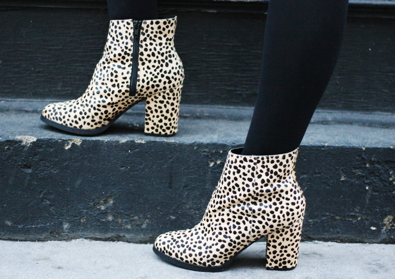 office leopard print boots