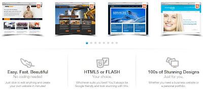 Membuat situs flash wix.com