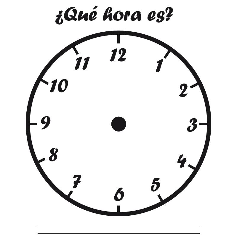 COLOREA TUS DIBUJOS: Plantilla de reloj para marcar las horas y ...