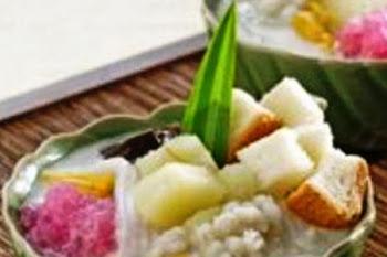 Kolak Roti Singkong. i-Kuliner