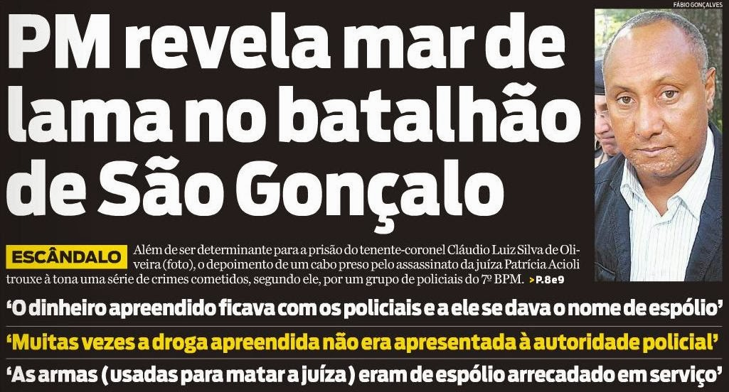 PM revela mar de lama no Batalhão de São Gonçalo