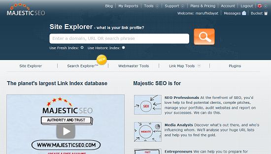 Cara Mengetahui Jumlah Backlink Blog dengan MajesticSEO