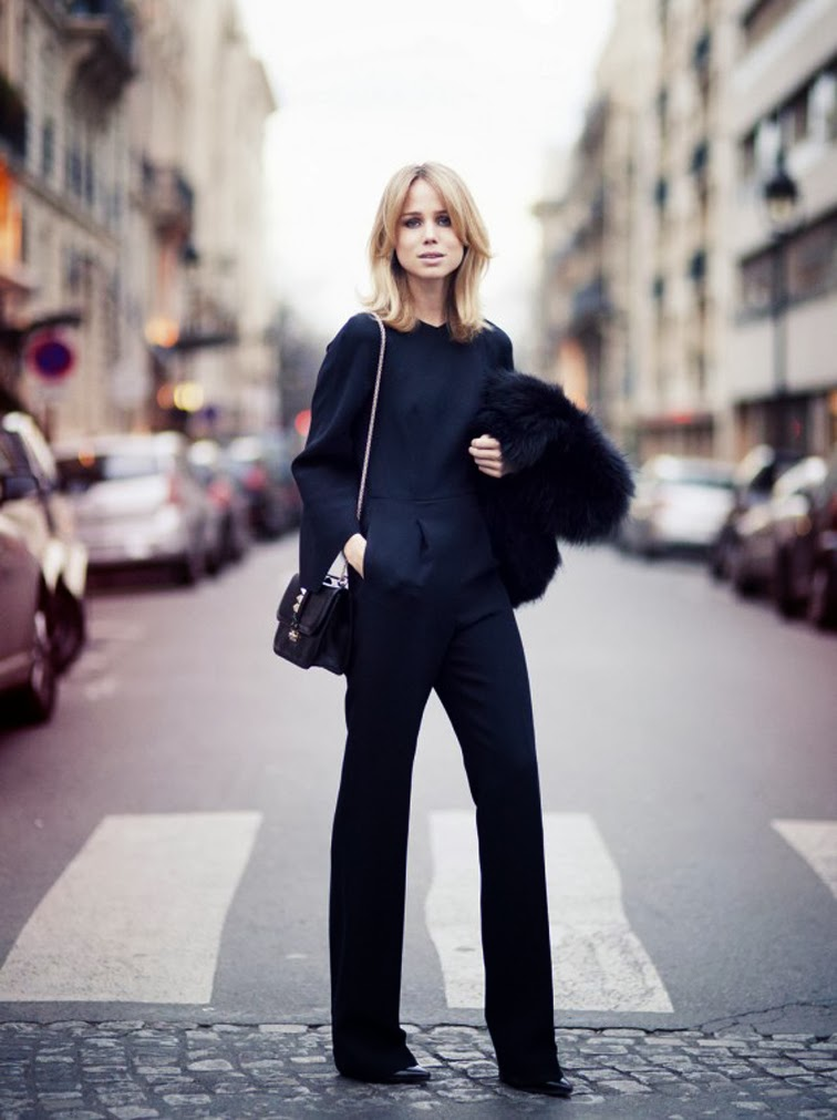 Elin Kling Street style Valentino jumpsuit