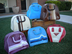 retro bowling bags...SOLD