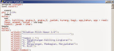Membuat Program Pilih Tombol dengan Turbo Pascal