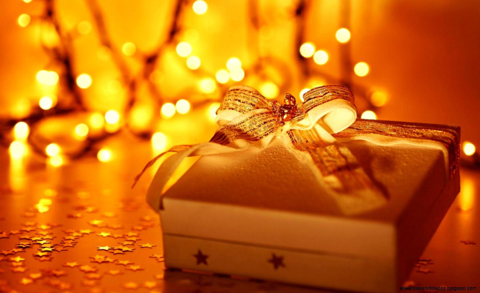 Holiday Gift Box New Year Christmas Lights wallpaper  1680x1050