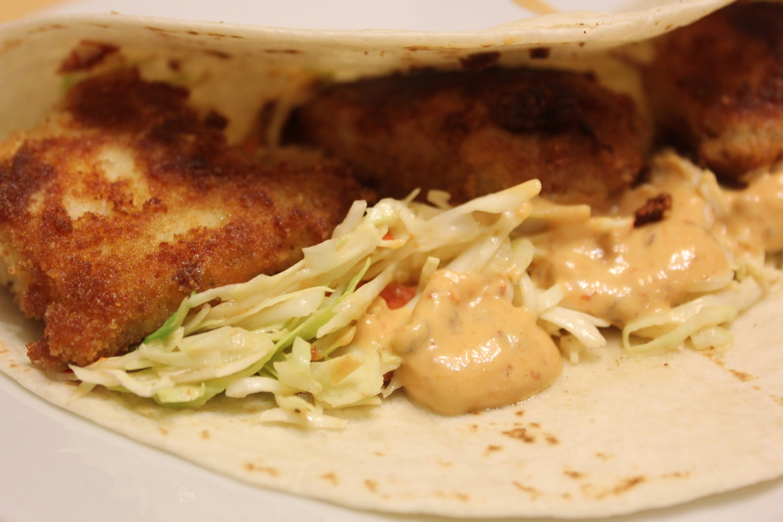 THE BUSY MOM CAFE: Fish Tacos with Honey-Cumin Slaw and Chipotle Mayo