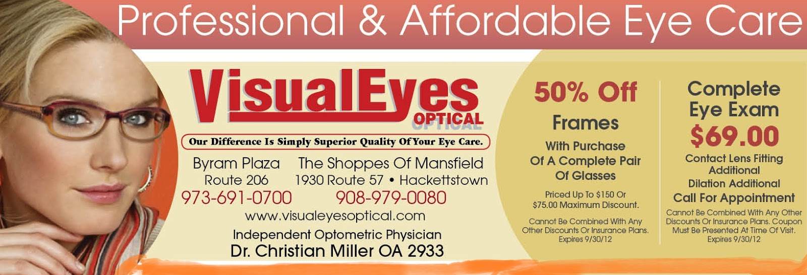 Eyewear coupons discounts