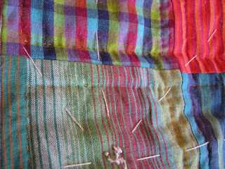 squares hand quilting