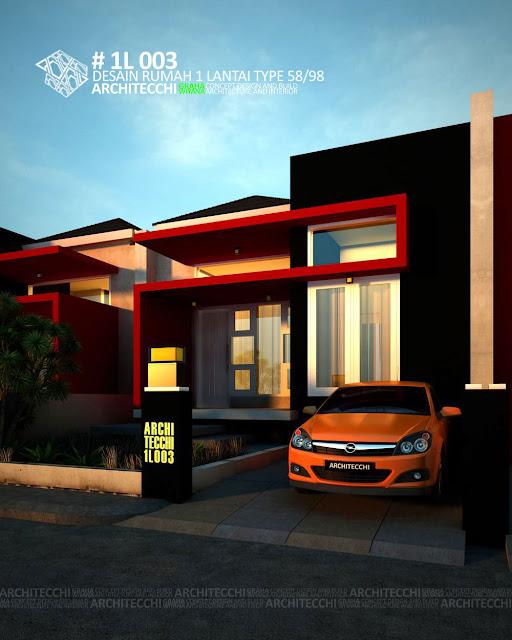 Desain Rumah Minimalis 1 Lantai type 58