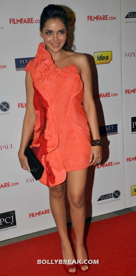 Shazahn Padamsee Orange Dress - (7) - Celebrity Pictures in Neon Dresses - Bollywood, Hollywood