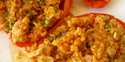 recetas pimientos rellenos de arroz