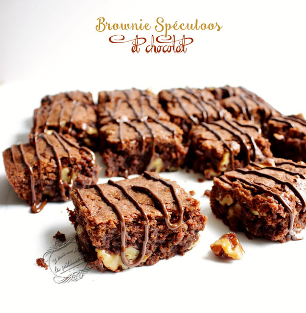 recette brownie spéculoos et chocolat
