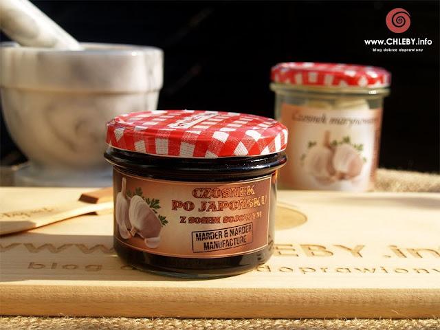 Czosnek po japońsku z sosem sojowym