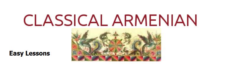 CLASSICAL ARMENIAN