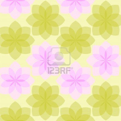 yellow wallpaper from the stylized flowers