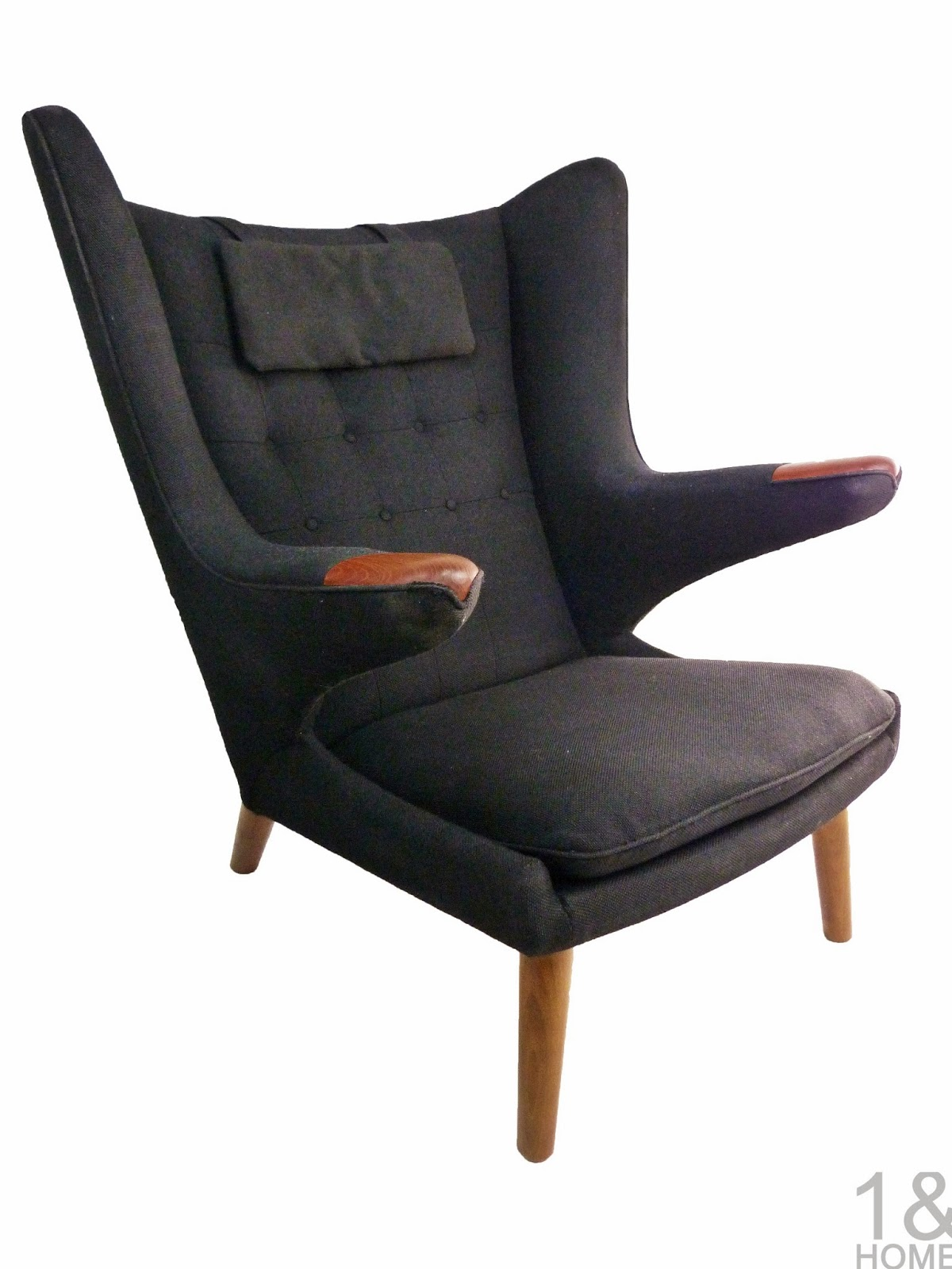 Papa Bear Black Hans Wegner Povl Dinesen Danish Modern Chair