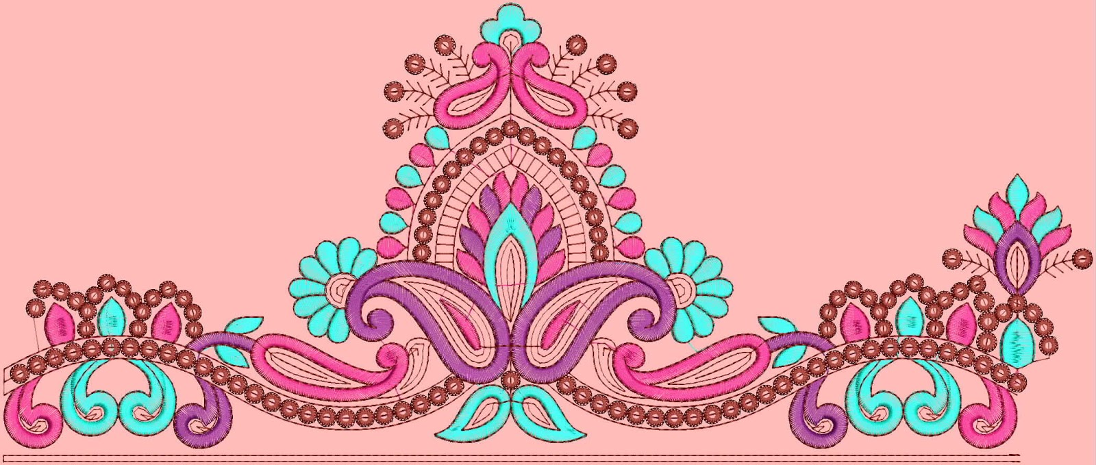 Truly Beautiful Look Lace Border Embroidery Designs