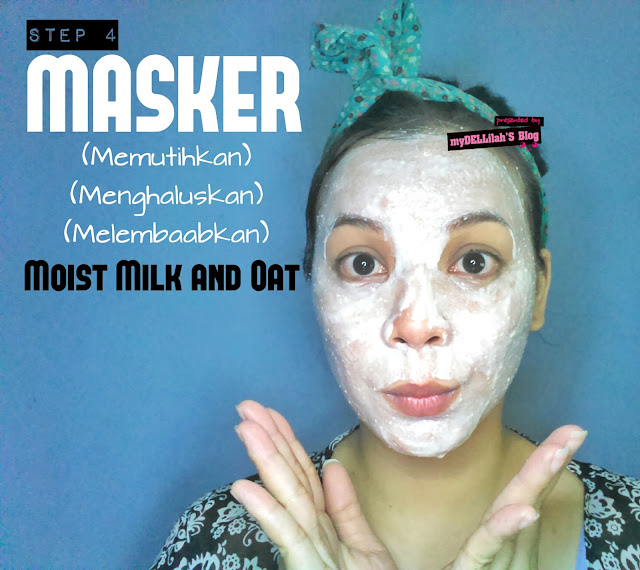 "MOIST FACE MASK ""MILK AND OAT"