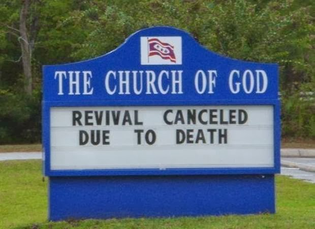 The Plural Of Hyena: More Funny Church Signs
